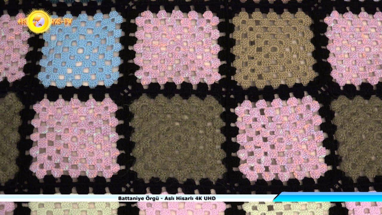 Tığ İşi Renkli Battaniye Motifi Yapılışı Videolu Anlatımlı
