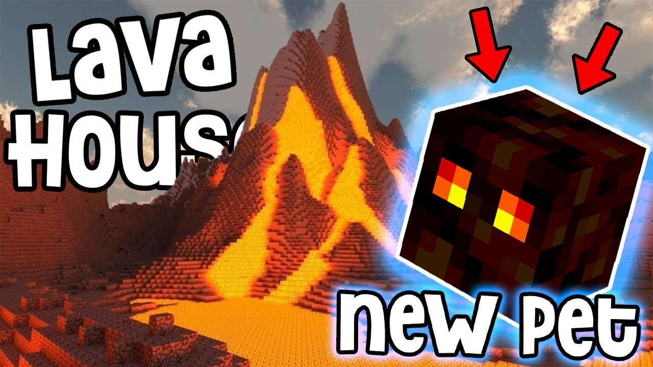 My NEW PET in LAVA HOUSE Minecraft