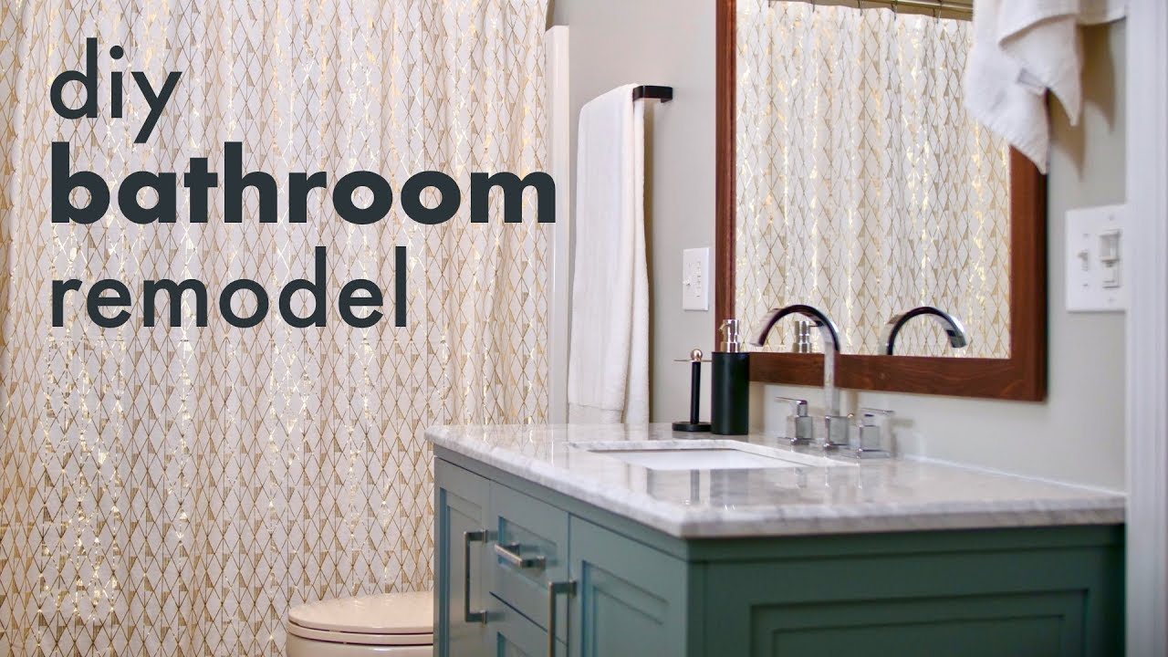 Diy bathroom remodel how to install a toilet vanity build a mirror frame