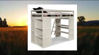 Canwood Skyway Loft Bed With Desk And Storage Tower Twin White