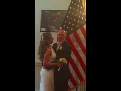 Mayor Thomas presided over the wedding of Police Officer Christopher Grieco and Lenice Da Silva on June 1.
