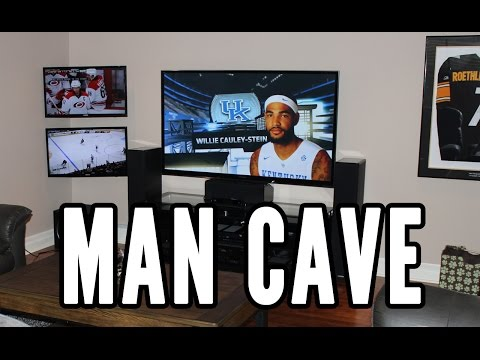 Man Cave Tour - Three TV's [2015]