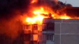горит дом на Ялагина в г. Электросталь