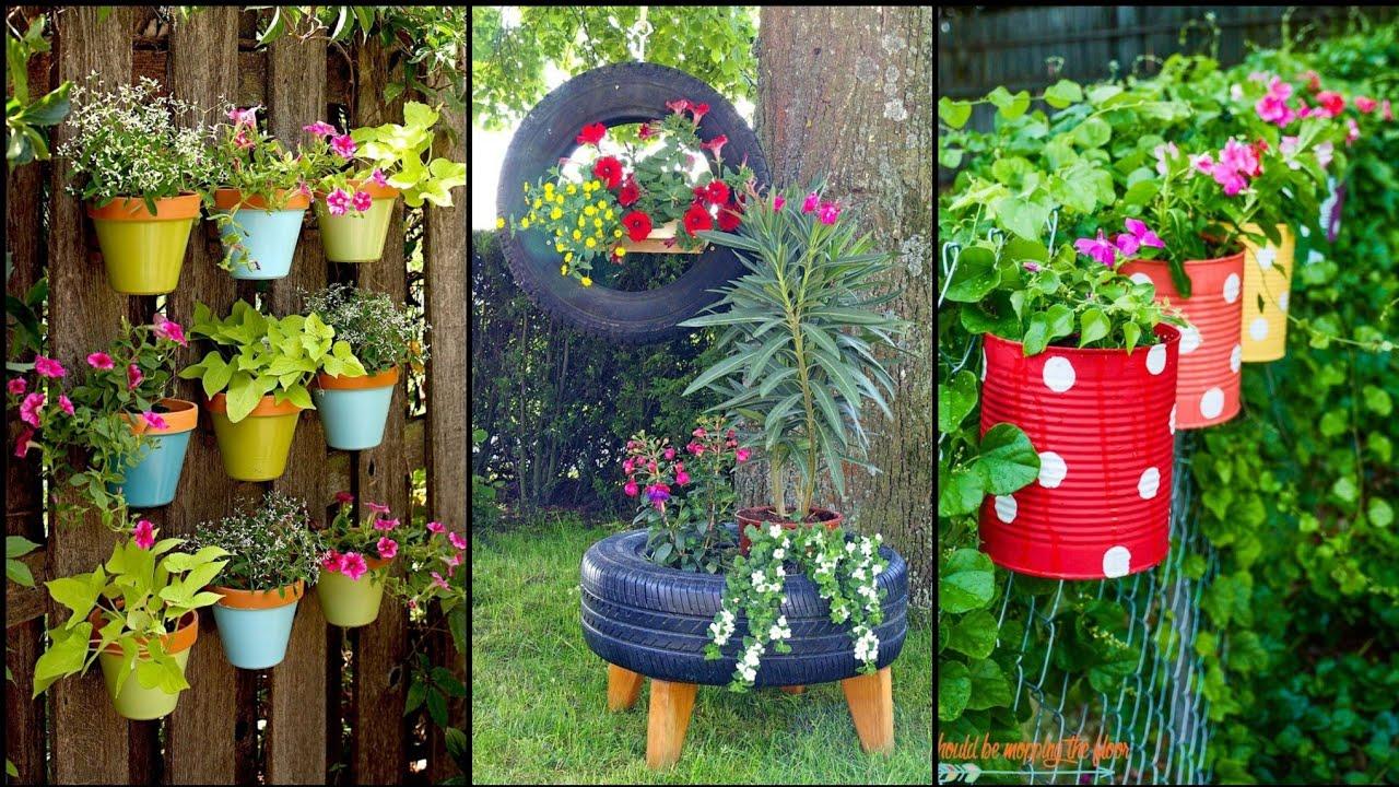 Gardening Ideas For Home  Easy DIY Garden Craft Ideas  Vertical