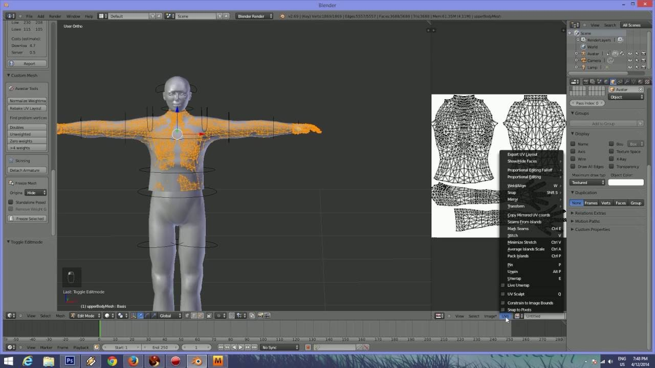 second life mesh,export shape to blender,tshirt,alpha for  tshirt,reeg,modeling,