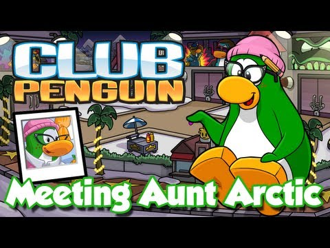 Club Penguin Meeting Aunt Arctic/Visiting Aunt Arctic's Igloo (Hollywood Party 2013)