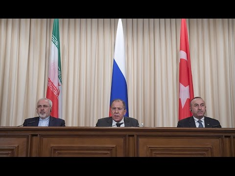 Russian, Iranian & Turkish Foreign Ministers press conference