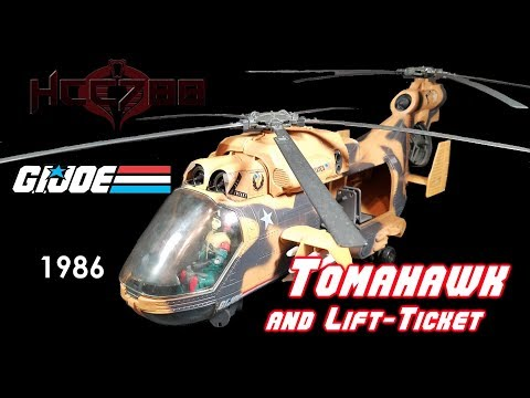 HCC788 - 1986 TOMAHAWK And LIFT-TICKET - Vintage G.I. Joe Toy Review!