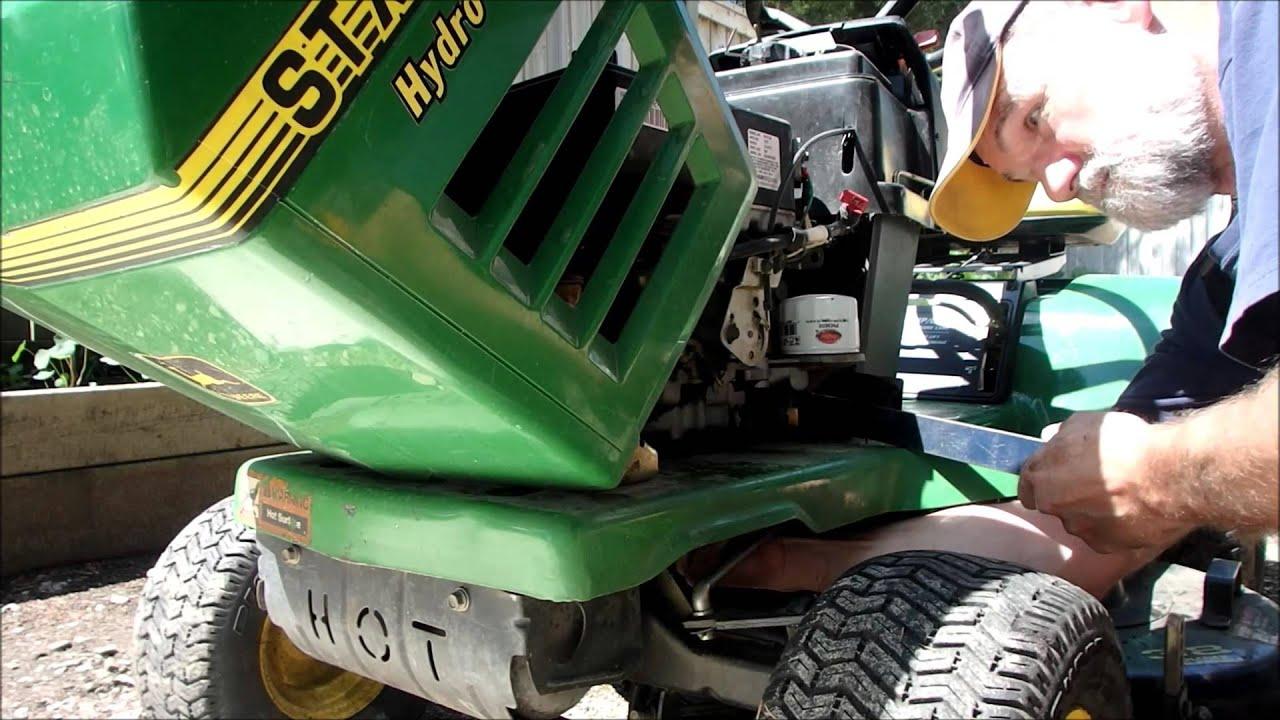 John Deere D140 Wiring Diagram John Deere Stx38 Motor Mount Repair Youtube