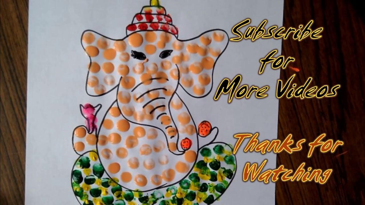 Lord Ganesha Painting For Kids Ganpati Bappa Moriya Easy Color