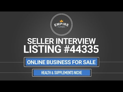 Online Business For Sale – $12.2K/month in the Health & Supplements Niche