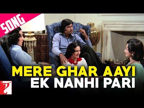 Mere Ghar Aayi Ek Nanhi Pari Song   Kabhi Kabhie   Amitabh Bachchan   Waheeda Rehman   Neetu Singh