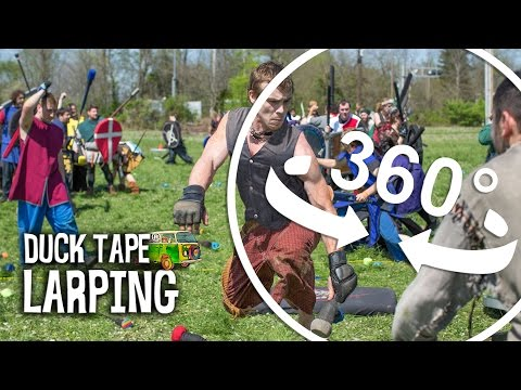 Duck Tape® Road Trip: 360 View of LARPing Battle - YouTube