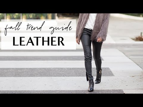 How To Wear LEATHER I Fall Trend Guide
