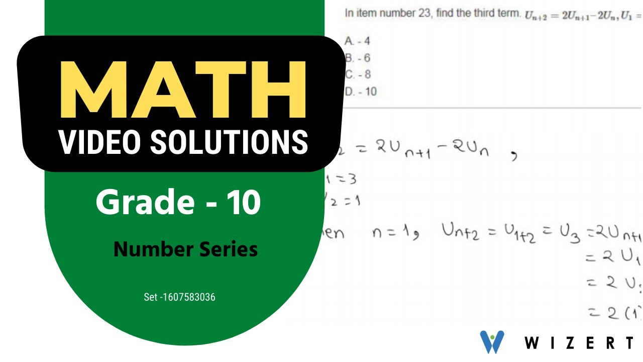Maths Tests for Grade 10 - Grade 10 Math Number Series Overall worksheets -  Set 1607583036 - YouTube [ 720 x 1280 Pixel ]