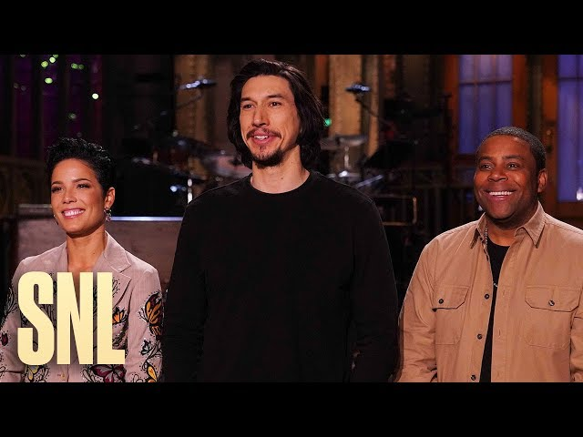Adam Driver and Halsey Kick Off 2020 with Fireworks and Nude Sketches - SNL