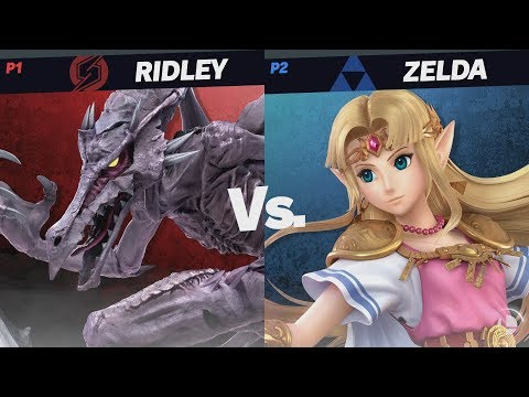 Direct Capture Gameplay E3 2018 - Duncan (Ridley) vs shofu (Zelda) - Super Smash Bros. Ultimate