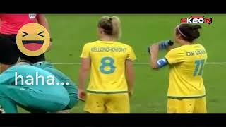 WOMEN Football Fails Funny  Goals