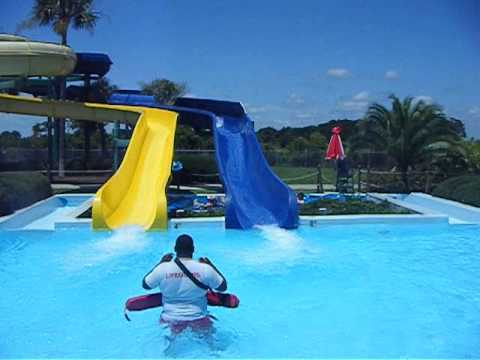 THE SUMMER WAVES PARK Jekyll Island GA water slide at Water Park July 4th 2015