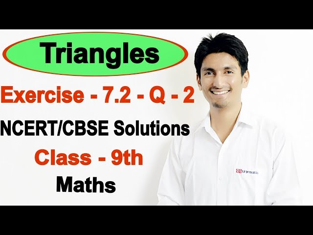 Chapter 7 Exercise 7.2 Question 2 - Triangles class 9 maths - NCERT Solutions