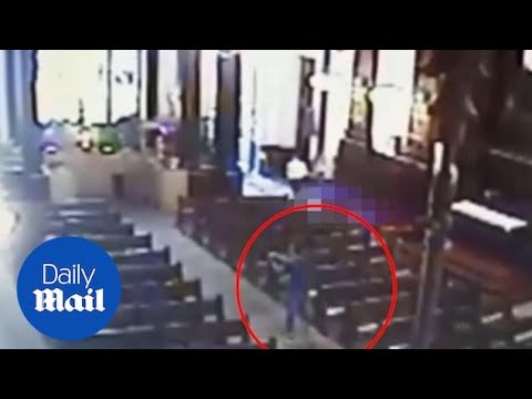 CCTV of Campinas shows moment alleged gunman opens fire