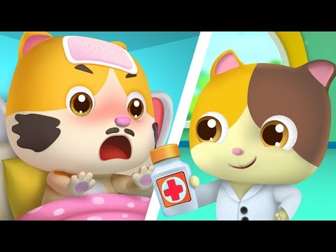 미미 의사놀이| 진찰송| 고양이가족| 역할놀이| 어린이노래|베이비버스 스토리동요|BabyBus