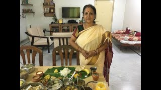 Onam Sadya!  Traditional Recipes!! No Onion!! No Garlic Full Meal!!!