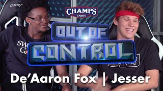 Jesser Battles De'Aaron Fox in NBA 2K with Hilarious Bet! | Out of Control - Episode 1