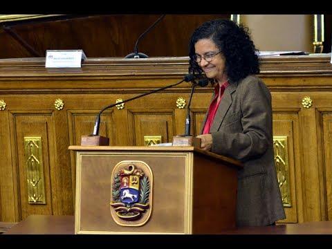 MInistra de Cultura, discurso ante la ANC por la Constituyente de la Identidad Cultural