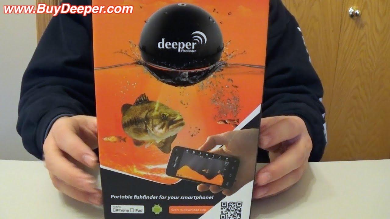 deeper fish finder unboxing - youtube, Fish Finder