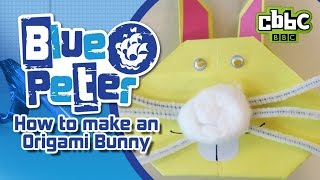 How to make an Origami Easter Bunny - CBBC Blue Peter