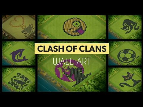 Fabulous Art - Clash Of Clans Wall Design ..must watch