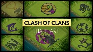 Fabulous Art - Clash Of Clans Wall Design ..must watch