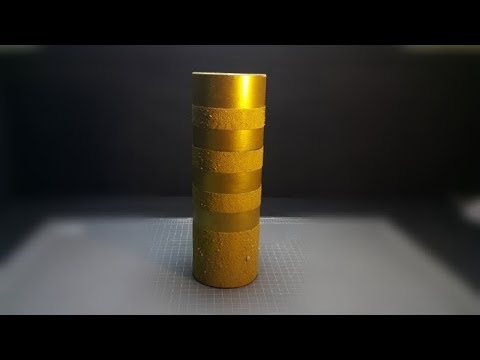How To Make A Flower Vase With Empty Paper Roll | Best Out Of Waste Craft |
