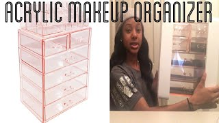 SORBUS ACRYLIC COSMETIC MAKEUP ORGANIZER CASE (UNBOXING & REVIEW)