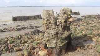 Remains of WWII Submerged Barrier Isle of Wight