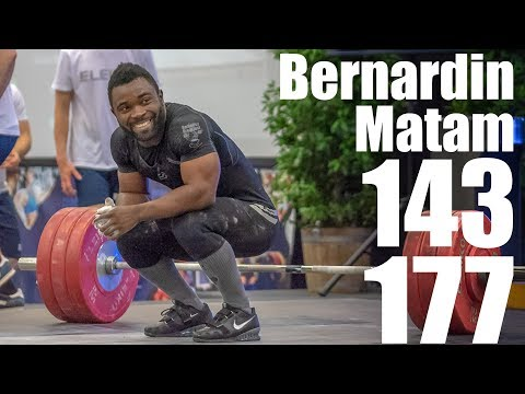 Bernardin Kingue Matam (71kg) 143kg Snatch 177kg Clean and Jerk - 2018 Championat du France