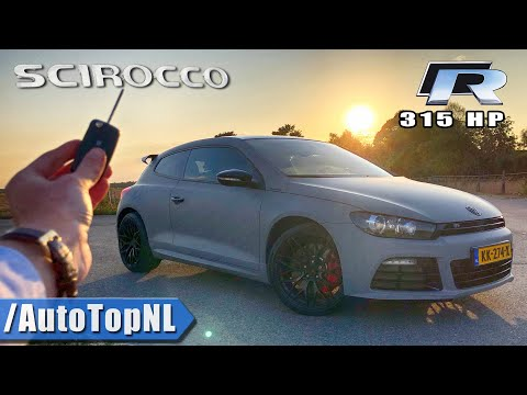 VW Scirocco R 315HP REVIEW POV on AUTOBAHN (No Speed Limit) by AutoTopNL