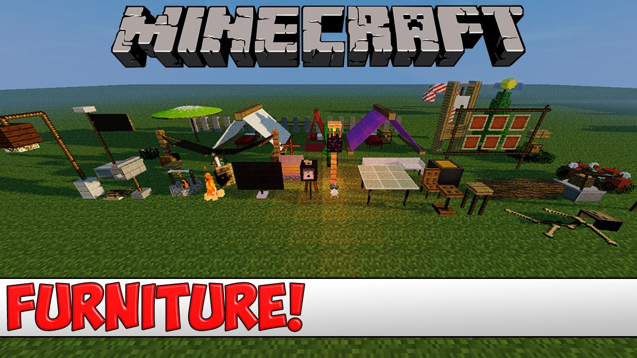 Minecraft Furniture minecraft plugin tutorial - dice furniture - youtube