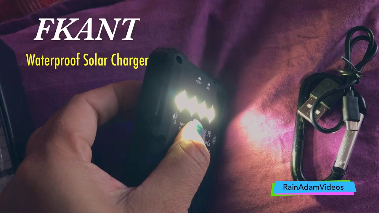check out d6ca6 f78b7 FKANT Waterproof Solar Charger