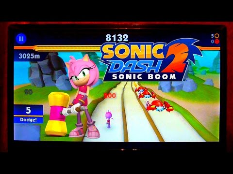 Sonic DASH 2: Sonic BOOM - AMY ROSE Gameplay [PC Windows 7 WIDESCREEN]