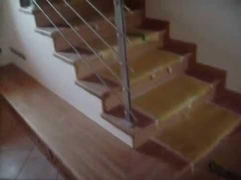Rivestimento scala in cemento youtube for Rivestire una scala in legno