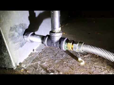 hook up propane range