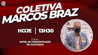 Coletiva de imprensa AO VIVO com Marcos Braz na Fla TV