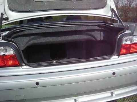 E36 328i Cabrio Kofferraum Amp Subwoofer Youtube