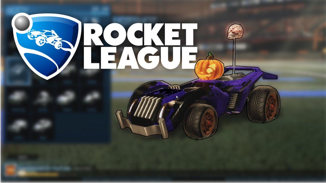 Rocket league custom cars halloween hotshot