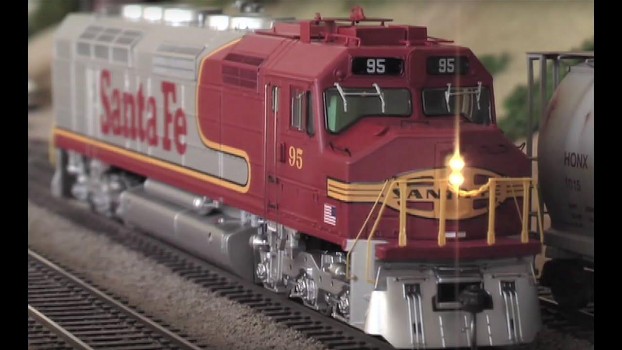 HO scale Athearn Genesis Santa Fe Ry EMD FP45 locomotive train DCC SOUND