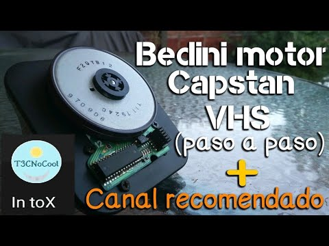 Bedini Motor Capstan VHS (paso a paso)
