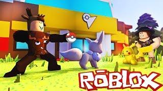 Roblox Adventures / Pokemon Brick Bronze! / 1ST GYM LEADER BATTLE & SHINY EEVEE!