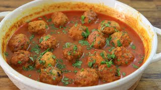Chicken Meatballs with Coconut Curry Sauce Recipe